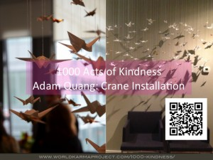 1000 Acts of Kindness - Crane installation by Adam Quang