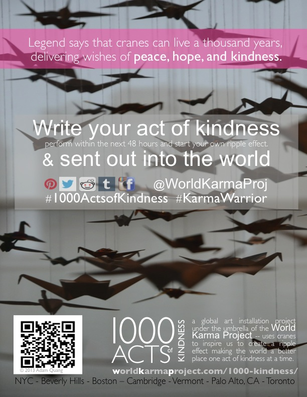 1000 acts of kindness poster 8.5x11
