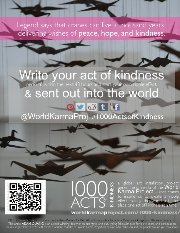 Poster: 1000 acts of kindness