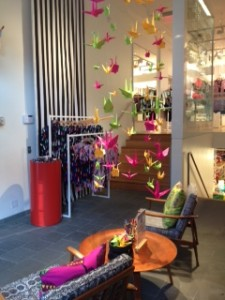 108 crane installations will be featured in window displays at Marimekko Boston USA