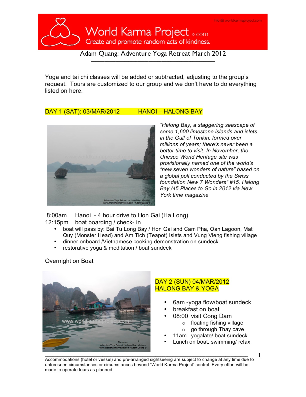 1-Adventure yoga retreat - Halong bay Tour itinerary -Mar_3-17_2012 -Edit JC