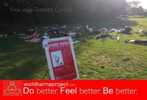 Free yoga-Toronto, Canada-2012