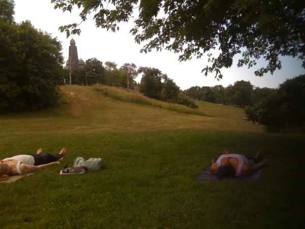 yoga in the park-Riverdale Park Toronto