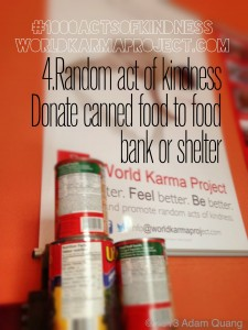 Every week students bring canned food to our Free Yoga class to be donated to a food bank and women's shelter. #1000ActsofKindness