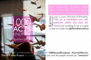 Postcard for the 1000 Acts of Kindness – Crane installation by Adam Quang
