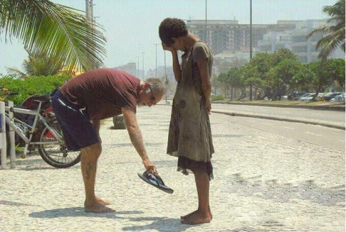 shoe-Act of kindness