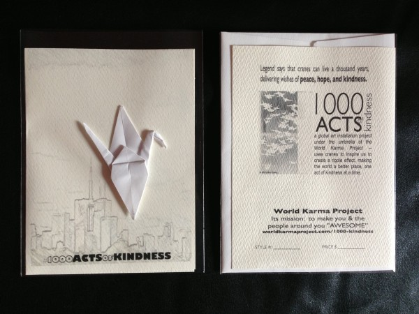 Front & Back     #1002-1000ActofKindness greeting card